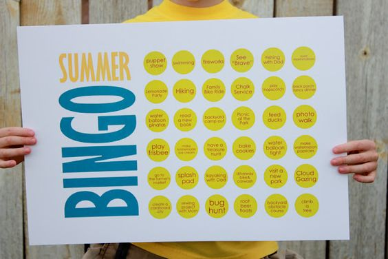 Summer Fun Bingo Card ~ Be Different...Act Normal    Great way to plan a summer's worth of activities and a way for the kids to keep track of their summer fun!!