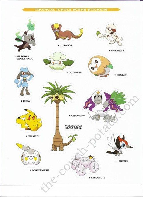 Pokemon Alola Stickers 7016 Pokemon Alola Pokemon Pokemon Stickers