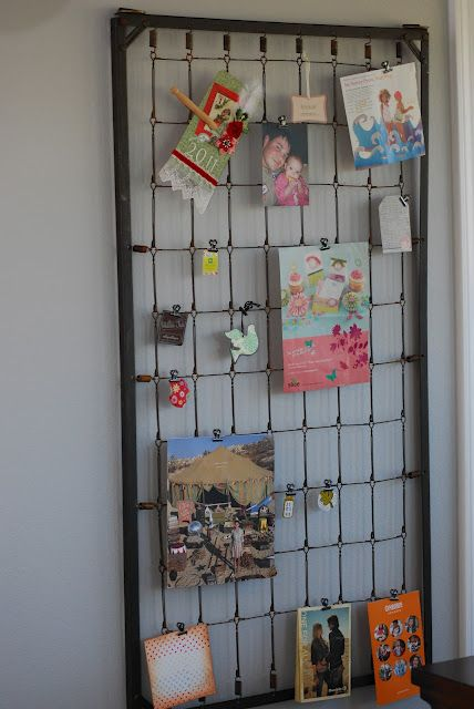 COSMOGIRL'S EMPORIUM: Upcycled Crib Spring...I will spray mine a fun color  for the kids room..