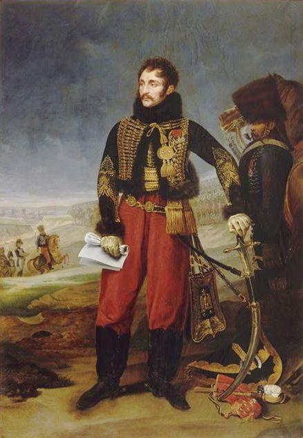 Le Général Antoine Charles Louis Comte de Lasalle recevant la capitulation de la garnison de Stettin le 29 octobre 1806.painted in 1808 by Antoine-Jean Gros (French 1771-1835)