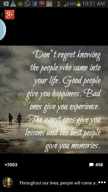People in our life