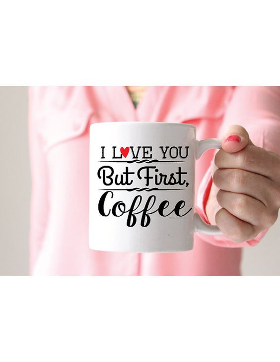 I love you but first coffee mugfunny mug by EllenCrimiTrent