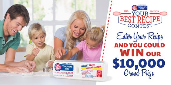"Did you enter the EB ""Your Best Recipe"" Contest yet? Enter today for your chance to win $10K"