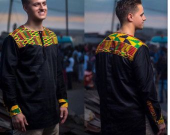 Chemise africaine à manches courtes hommes hommes par NayaasDesigns