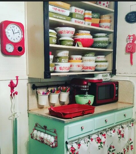 Kitchy Kitchen Decor: Pyrex, Vintage Kitchen And Chang'e 3 On Pinterest
