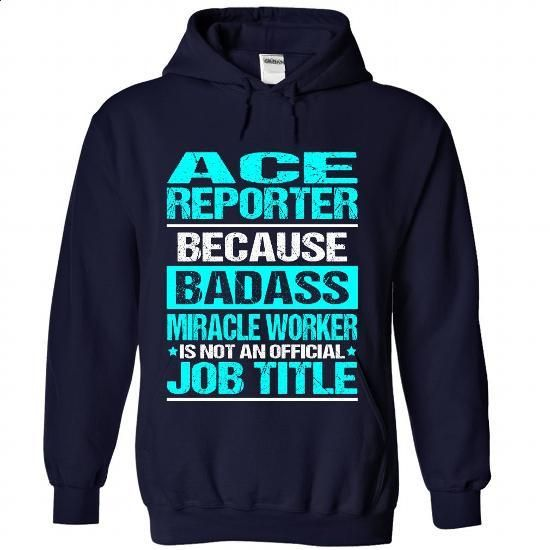 ACE-REPORTER - Badass - make your own shirt #style #online tshirt design