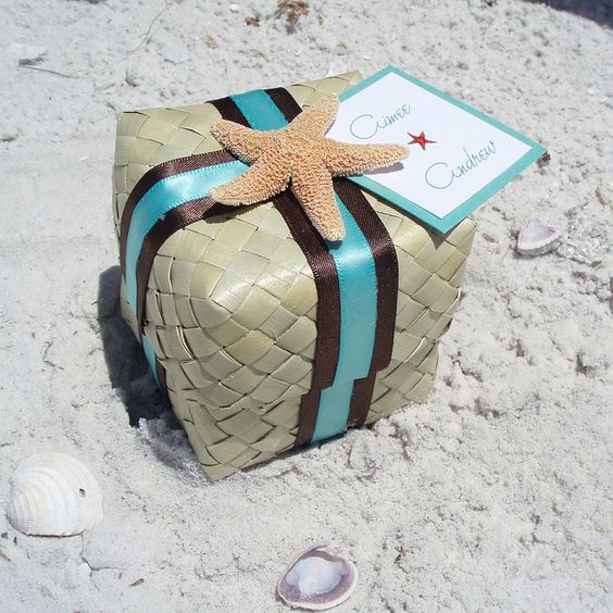 Starfish Favor Boxes And Tropical On Pinterest