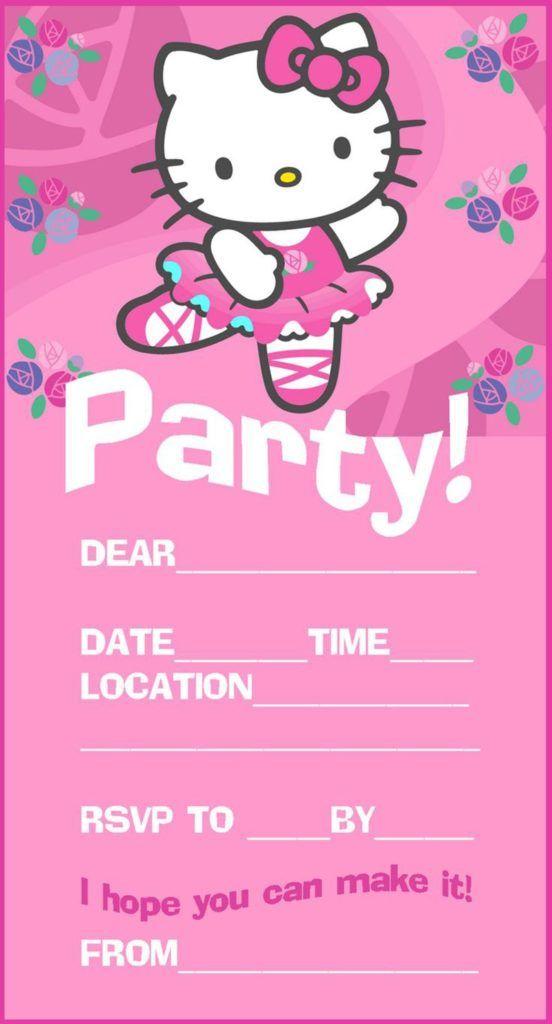 Hello Kitty Party Invitation Hello Kitty Invitations Hello