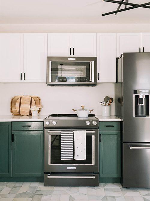 15 Inspiradoras Cocinas Con Armarios Pintados Y Como Hacerlo Pintar Muebles Cocina Muebles De Cocina Y Cocina Blanca Y Madera