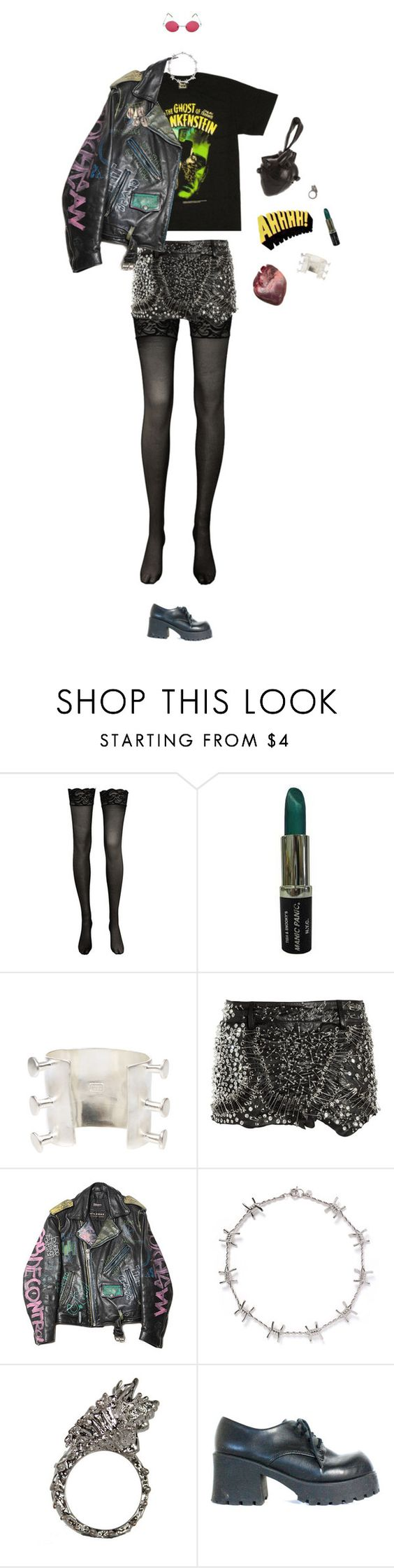 """AHHHHH!"" by lucyh2204 ❤ liked on Polyvore featuring Pamela Love, Natalia Brilli, Balmain and Alexander McQueen"