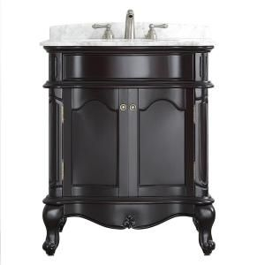 Vinnova Messina 30 in. W x 23 in. D x 35 in. H Vanity in Espresso with Marble Vanity Top in White with Basin 718030-ES-CA-NM at The Home Depot - Mobile
