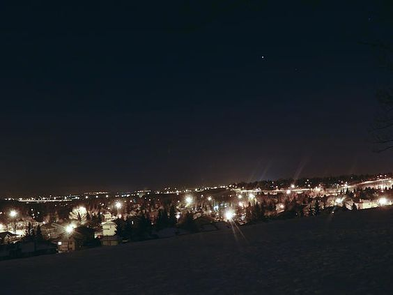 A cold winter night in Calgary.
