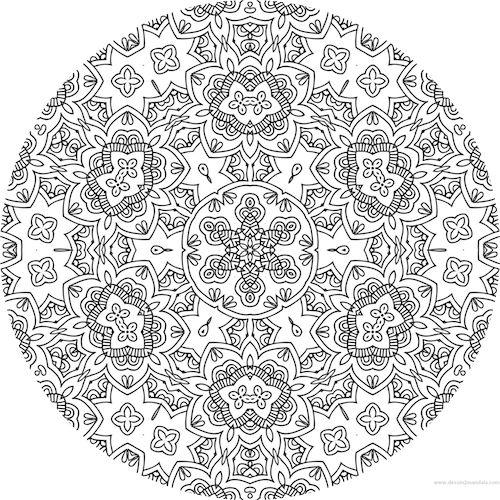 coloriage anti stress imprimer gratuit mandala coloriage adulte via dessin2mandalacom