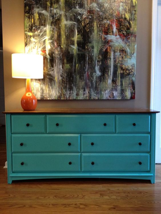 Turquoise Entry Table