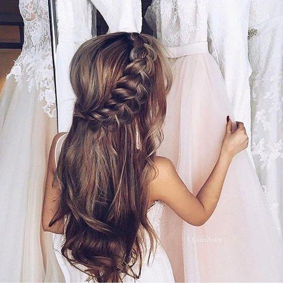 Wedding hairstyles for long hair : Loose Bridal Hairstyle | itakeyou.co.uk #bridalhair #weddinghairstyles #weddingideas: