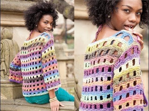 #29 Drop Shoulder Pullover, Vogue Knitting Early Fall 2014 - YouTube