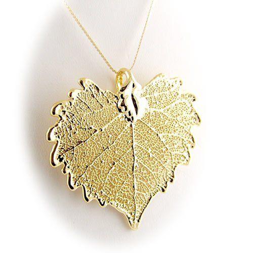 Gold Plated Cottonwood Real Leaf Pendant Sterling Silver Serpentine Chain Necklace 20 Inch Pendants by Joyful Creations,http://www.amazon.com/dp/B009YIAR3E/ref=cm_sw_r_pi_dp_b5-ytb0FB3Z5QA32