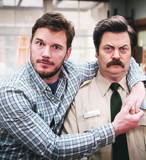 Parks and Rec. Andy and Ron