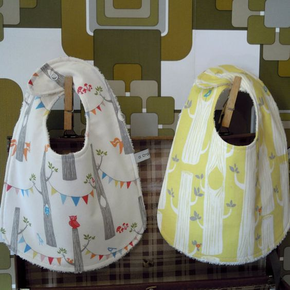 Luxurious Organic Baby Bib Set by acraftyhen on Etsy, $20.00