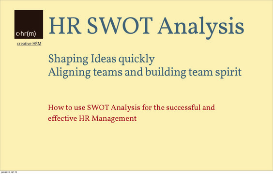 Hr Swot Analysis  Hr Management    Swot Analysis