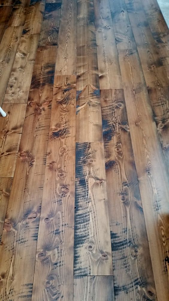 Prefinished circle sawn Douglas Fir flooring from Sustainable Lumber Co.