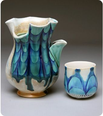 Julia Galloway: water ewer. Cup doubles as a lid