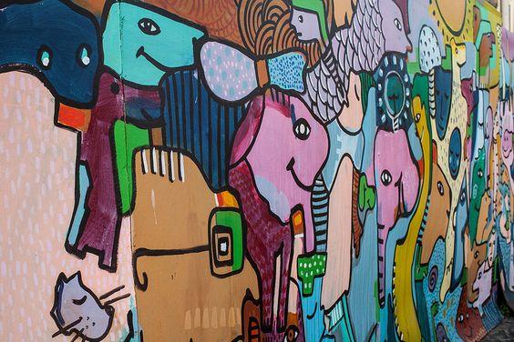 Mural Rua Portao sao Tiago - Rua de Santa Maria, Funchal, Madeira, Portugal - photo by Dmitri Korobtsov.