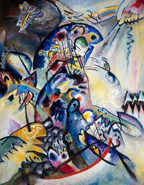 Wassily Kandinsky, Cresta azzurra, 1917, olio su tela, San Pietroburgo, Museo di Stato Russo © Wassily Kandinsky, by SIAE 2012