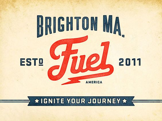 Branding and packaging designed for Fuel - a cafe & custom coffee shop located in Brighton MA, a neighborhood of Boston.