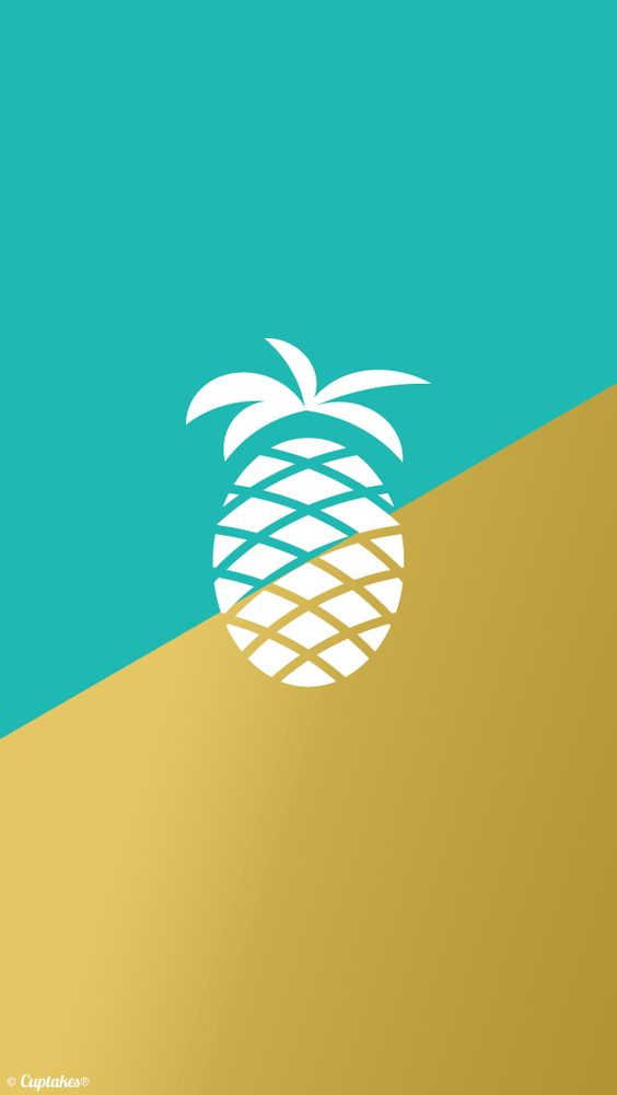 Turquoise gold pineapple iphone wallpaper background - Turquoise wallpaper pinterest ...