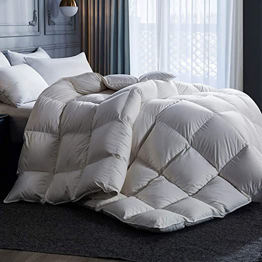 Miss Yg Goose Down Comforter 900 Fill Power Natural White Goose Down Comforter 1000 Thread Count 100 Cotton Fabric King Size Give Away 2