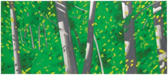 "Alex Katz, ""Forest."" 1992, Aquatint. Museum of Fine Arts, Boston."