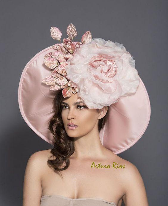 Blush Pink/Mauve Kentucky Derby Hat, Classic Derby Hat, Pink Derby Hat