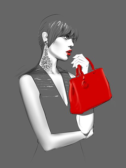 Hossein Borojeni Fashion illustration - Dior
