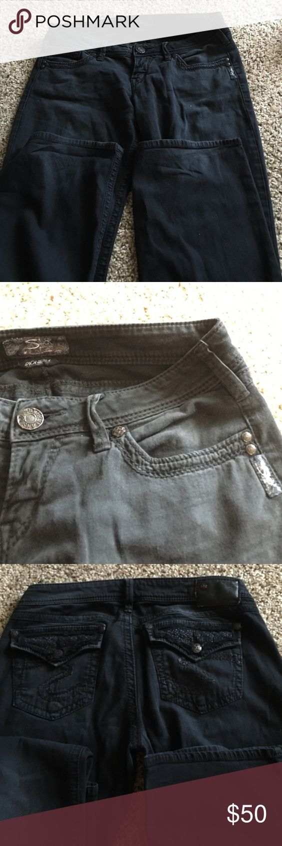 Black pioneer silver jeans Size 29/33 only worn once ! Nice pair ...