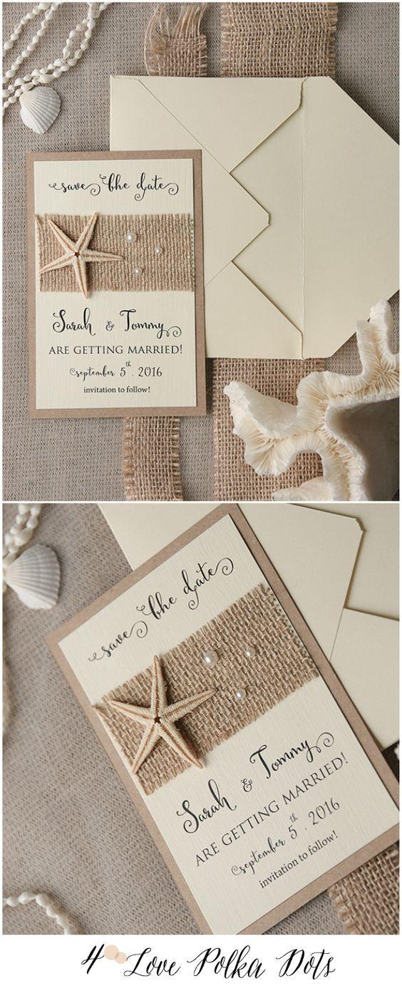Ideas de invitaciones/ boda en la playa 5