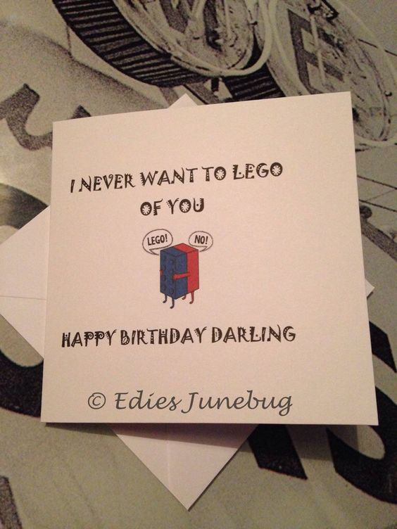A personal favourite from my Etsy shop https://www.etsy.com/uk/listing/268876006/lego-card-handmade-birthday-card-for