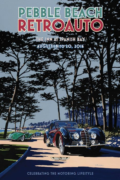 Retro Auto poster by Tim Layzell