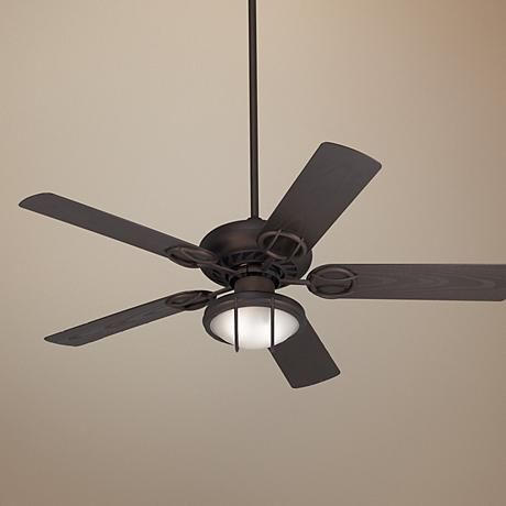 52 casa vieja bronze wet location ceiling fan w light. Black Bedroom Furniture Sets. Home Design Ideas