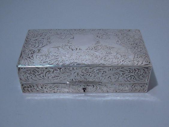 Black Starr Frost American Sterling Silver Jewelry Box C 1900 | eBay