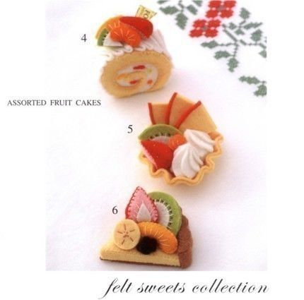 Master Mariko Emi Collection 01 - Handmade Felt Sweet Collection - Japanese craft book. $20.00, via Etsy.