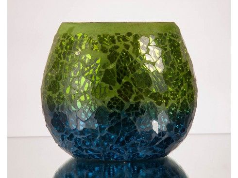 Two Tone Mosaic Rolly Polly Votive