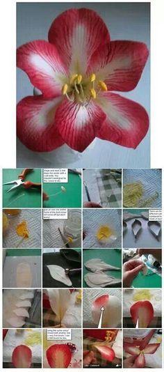 Flor en pasta de goma paso a paso - ..sugar flower