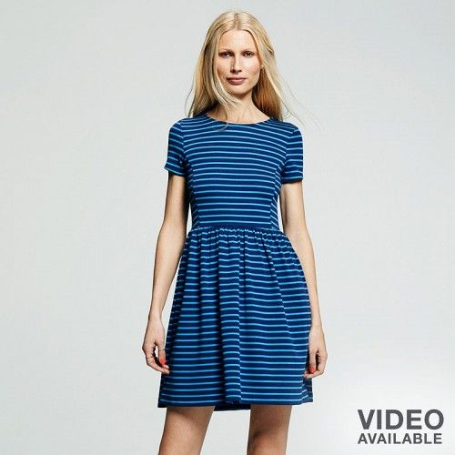 Peter Som For Designation Striped Fit Flare Dress Women's | Clothing