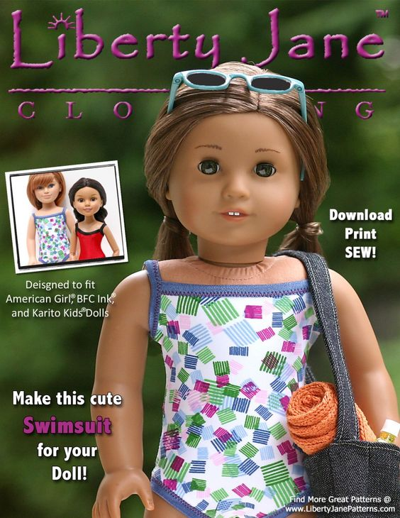 FREE Doll Clothes Pattern! Download, Print, Sew!