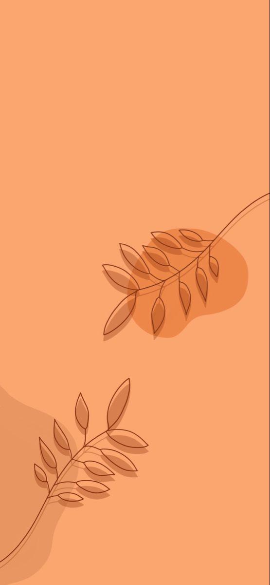 Bohemian Botanical Background Megan Schofield Design Wallpaper Iphone Boho Iphone Wallpaper Orange Bohemian Iphone Wallpaper