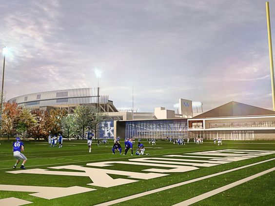 This is the new football training facility that is being built. It looks like it's going to be very cool but did they need a new training facility? Where is the old one at? What was wrong with it?