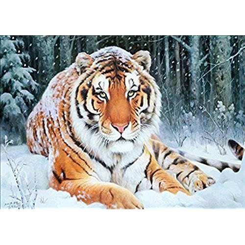 Tiger 5D Diamond Painting DIY Embroidery Cross Stitch Decor Needlework Craft