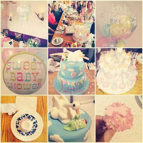 The Making of a Mummy: A Beautiful Baby Shower. Unisex baby shower ideas, cake, balloons, DIY