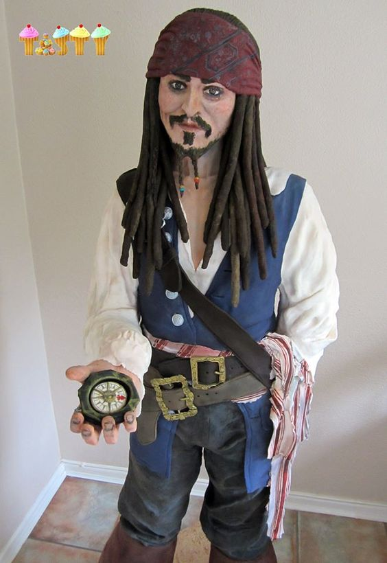 Cake International contestant makes nearly life-sized Captain Jack Sparrow cake | TheCelebrityCafe.com